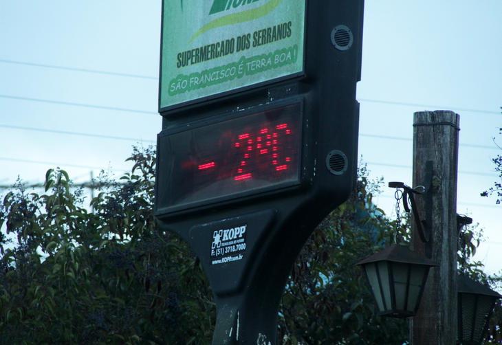 São Francisco de Paula registrou -2ºC e geada na manhã desta segunda feira:imagem 6