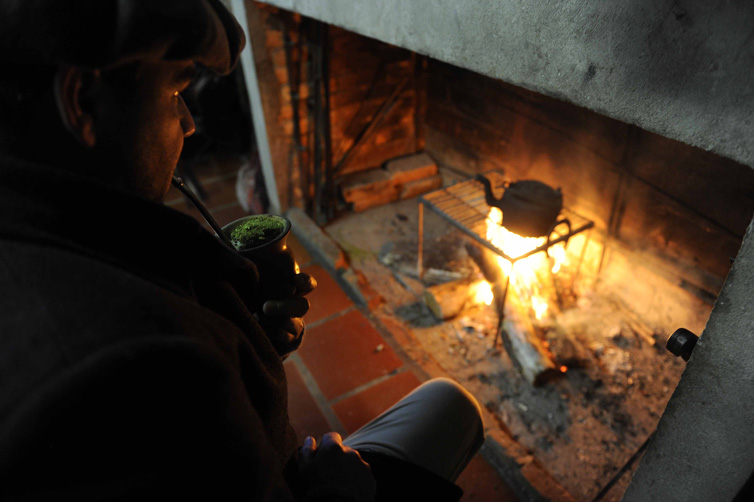 Manhã gelada no interior de Vacaria. Na foto Sidnei Michelon:imagem 12