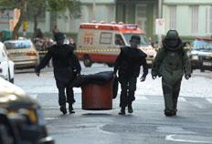 Gate recolheu material no viaduto Otávio Rocha e constatou que não se tratava de uma bomba-Ronaldo Bernardi