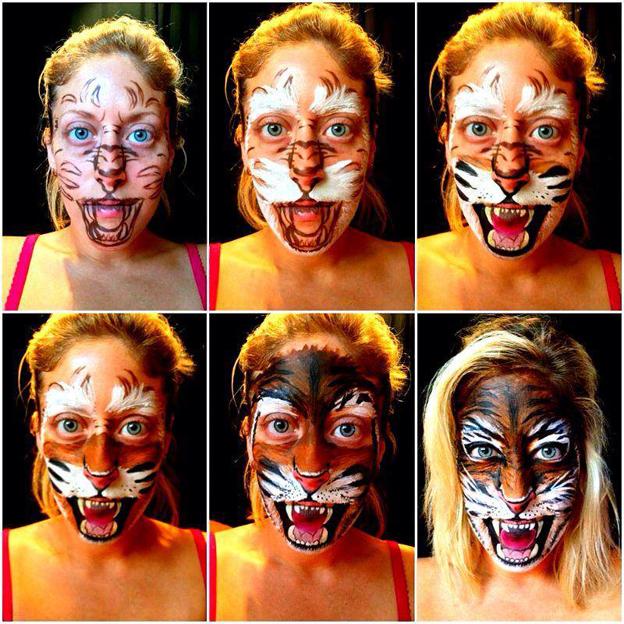 Preferência Artistas usam o rosto como tela e recriam personagens através de  YQ87