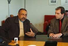 Coletiva do senador Paulo Paim com José Luiz Azanbuja-Arivaldo Chaves