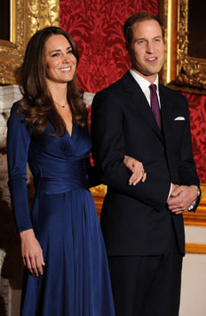 William e Kate casam em abril do ano que vem - AFP