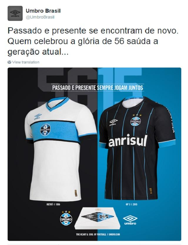 ecb2d13dd8 Umbro lança novos uniformes do Grêmio